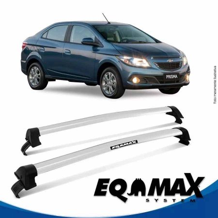 Rack Teto Eqmax New Wave Chevrolet Prisma Ltz 13/16 Prata