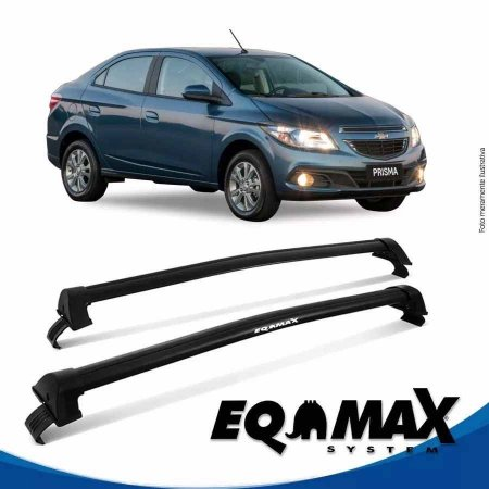 Rack Teto Eqmax New Wave Chevrolet Prisma Ltz 13/16 Preto