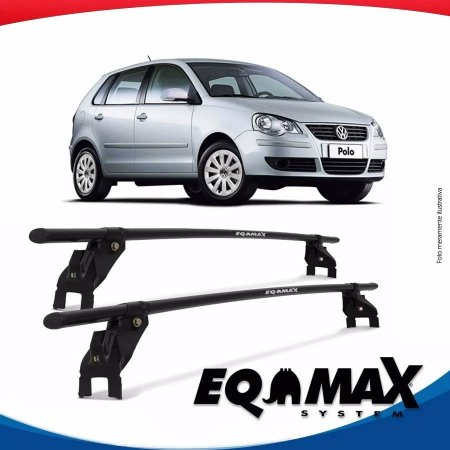 Rack Aço Teto Eqmax Vw Polo 4 Pts 03/14 Hatch