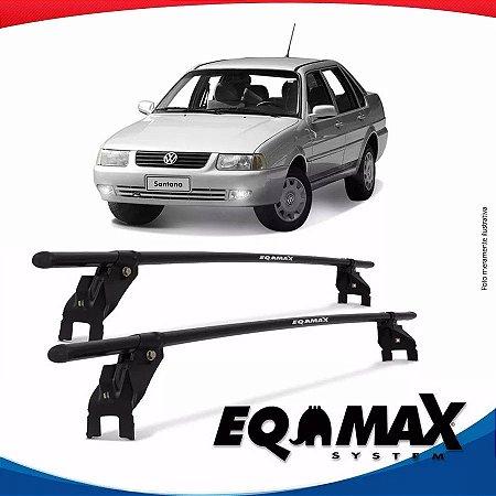 Rack Aço Teto Eqmax Vw Santana 4 Portas 92/06 Fixação Porta