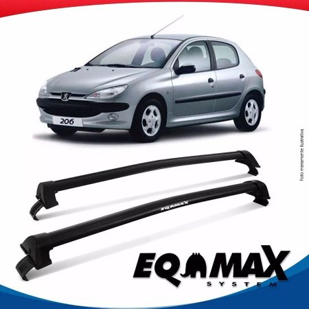 Rack Teto Eqmax New Wave Peugeot 206 Hatch 99/10 4 Portas Preto