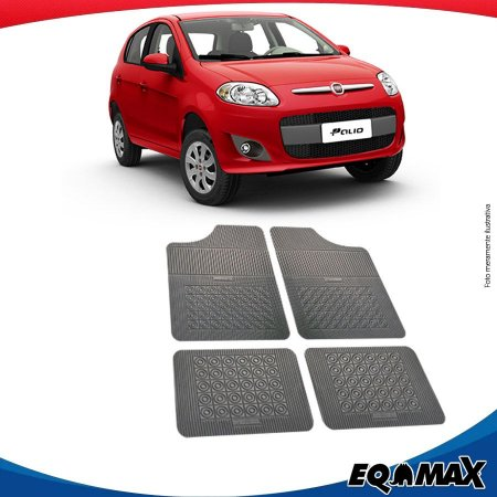 Tapete Borracha Eqmax Fiat Novo Palio 2016