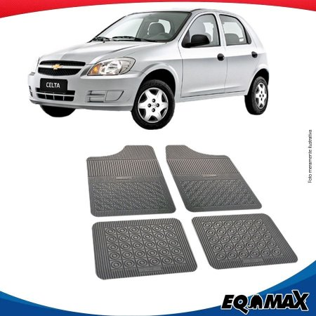 Tapete Borracha Eqmax Chevrolet Celta