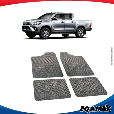 Tapete Borracha Eqmax Toyota Nova Hilux Cabine Dupla