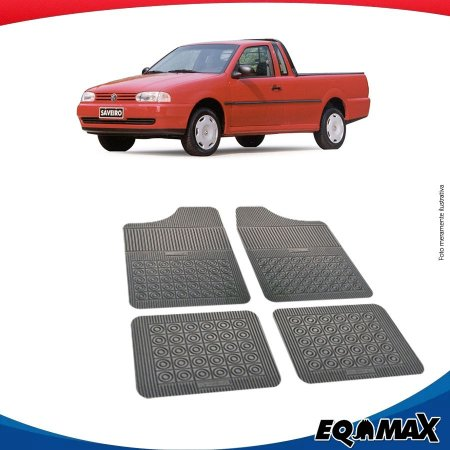 Tapete Borracha Eqmax Volkswagen Saveiro G2