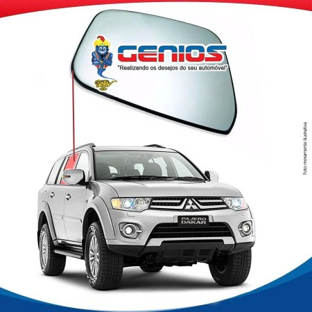 Vidro Porta Traseiro Direito Mitsubishi Pajero Dakar 09/...