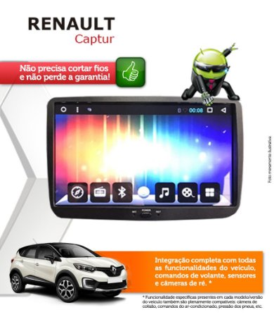 Central Multimidia Renault Captur Original Android 6.0