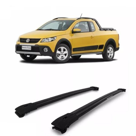 Rack Travessa Larga Longarina Vw Saveiro Cross 10/17 Preto
