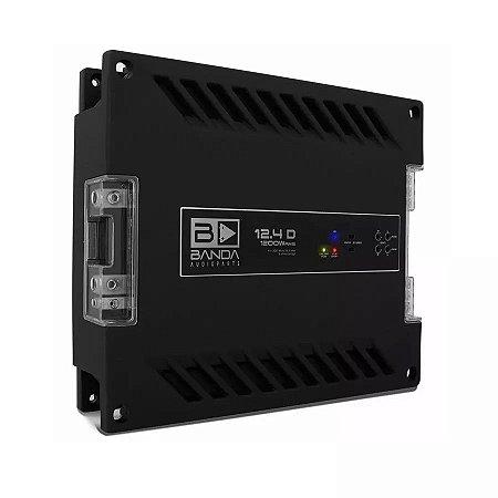 Módulo Banda 12.4d 1200 Wrms Amplificador Digital 4 Canais