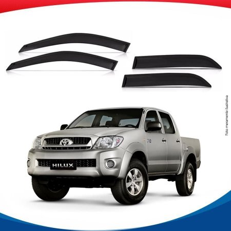 Calha de Chuva Toyota Hillux Cabine Dupla 05/...