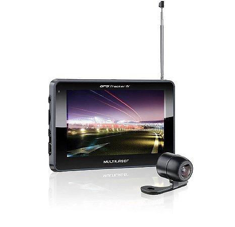 "GPS Multilaser Tela 5"" C/TV E Camera De RE"