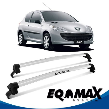 Rack Eqmax Peugeot 207 4P New Wave 99/14 prata