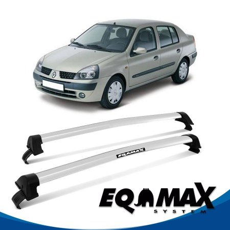 Rack Eqmax Clio 4P Sedan New Wave 00/14 prata