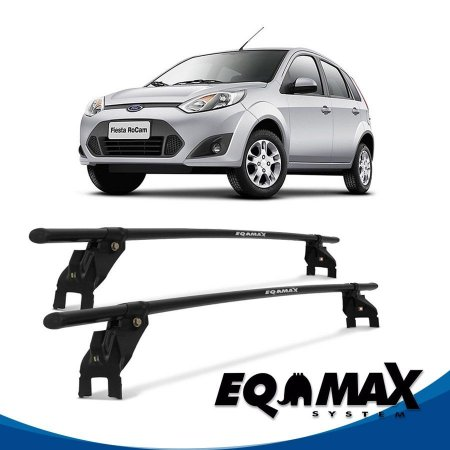 Rack Aço Teto Eqmax Ford Fiesta Rocam Hatch 4 Pts 03/16