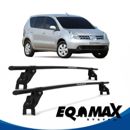 Rack Aço Teto Eqmax Nissan Livina 4 Pts 10/14