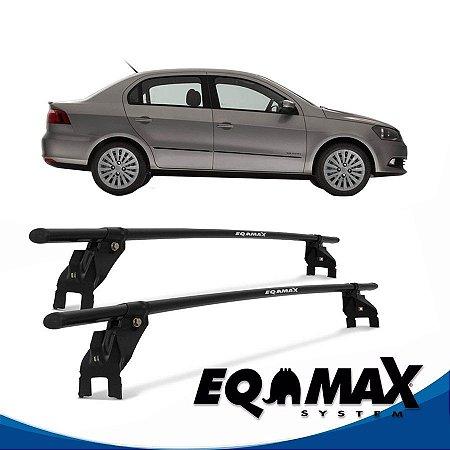 Rack Aço Teto Eqmax VW Voyage G5 4 Pts 08/12