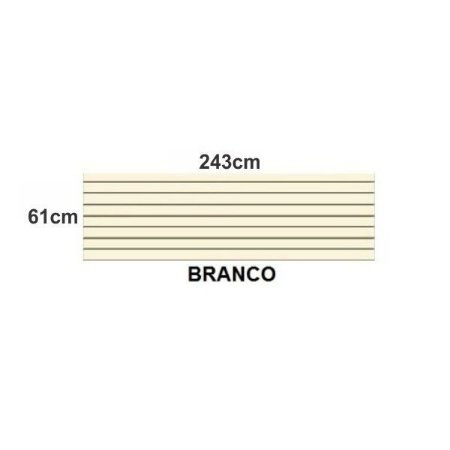 PAINEL CANALETADO BRANCO - PÇ. C/ 2.43 x 0.61m