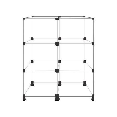 Balcão de Vidro com 6 vãos 40x30cm