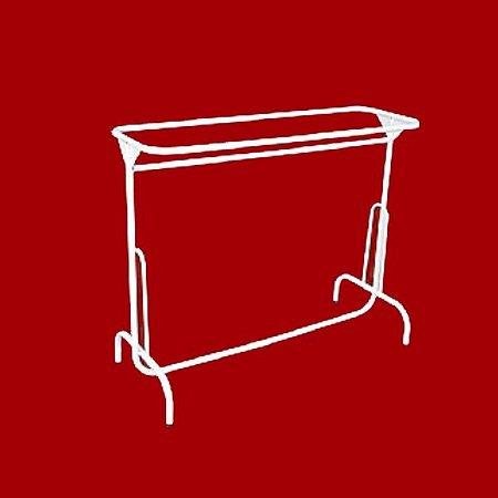 ARARA DESFILE SIMPLES MOD. PARA VIDRO C/ VIDRO 1,00 x 1,20 x 0,40M. (Branca com Vidro)