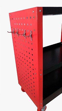 CARRINHO EM AÇO MODELO DETALHADOR PROFISSIONAL 83X45X19