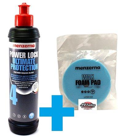 Kit Menzerna Selante Power Lock 250ml + Boina de Espuma Super Macia Azul