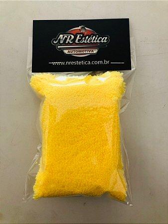 Aplicador De Microfibra Para Vitrificação 7x10cm  Amarela