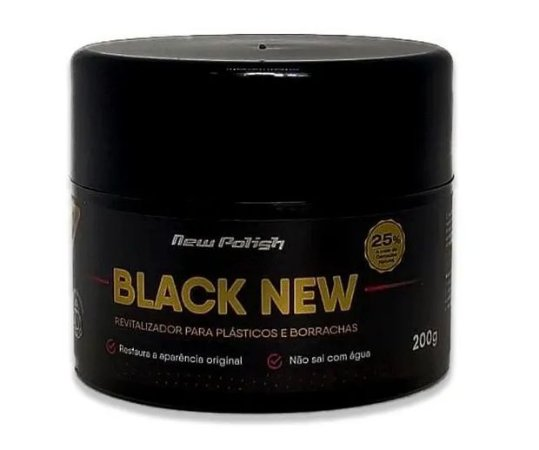 Revitalizador De Plastico Black New Carnauba New Polish
