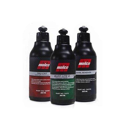 Kit Tru Grit Buff Lite E Swirl Remover Malco 300 ml