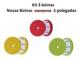 Kit De 3 Boinas Corte Refino Lustro Menzerna De 5 Polegadas