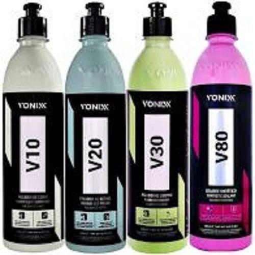 Kit V10 + V20 + V30 + V80 Polimento Verniz Asiático Vonixx