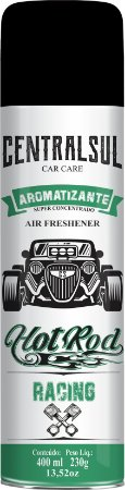 Aromatizante Aerosol Hot Rod V8 400ml Centralsul