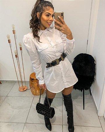 Chemise Blusão/Vestido Branco