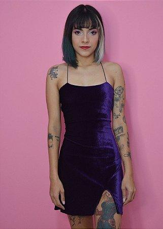 Vestido Veludo Sofie ROXO