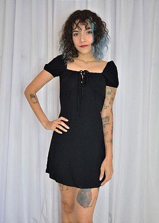 Vestido viscose curto preto