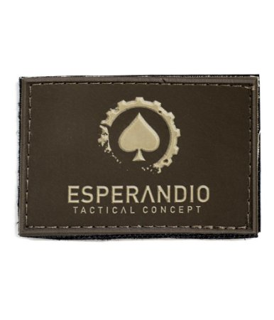 Patch Emborrachado Dark Brown Esperandio Tactical Concept ETC