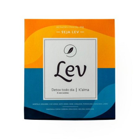Chá Lev Mix - DETOX com cafeína + K'ALMA