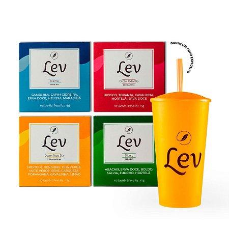 Kit #sejalev + Copo Lev chá gelado