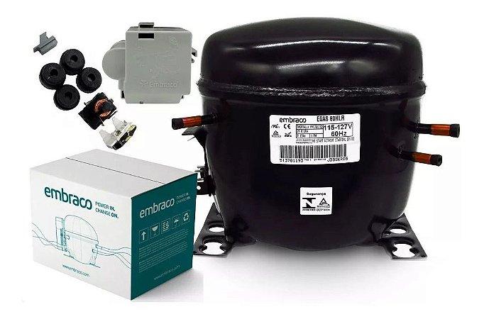Motor Compressor Embraco 1/4 Egas 80 Hlr 110v R134