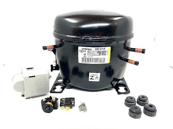 Motor Compressor Embraco 1/4 Egas 80 Hlr 220v R134
