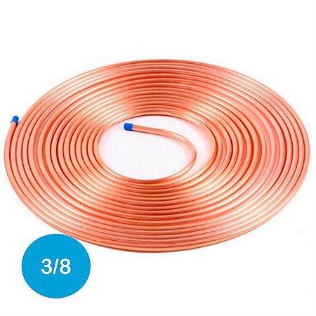 Cano Cobre 3/8 P/ Tubulação Gás Glp Ar Condicionado