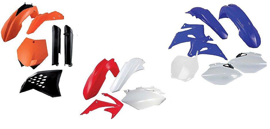 Kit Carenagem Honda Crf 150r 07 Para-Lama Traseiro Branco 5 Peças Red Dragon