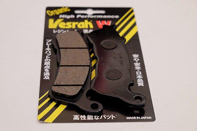 Pastilha Freio Dianteiro Orgânica Semi-Metalica GG Honda Xlx 350R 87-91 Vesrah