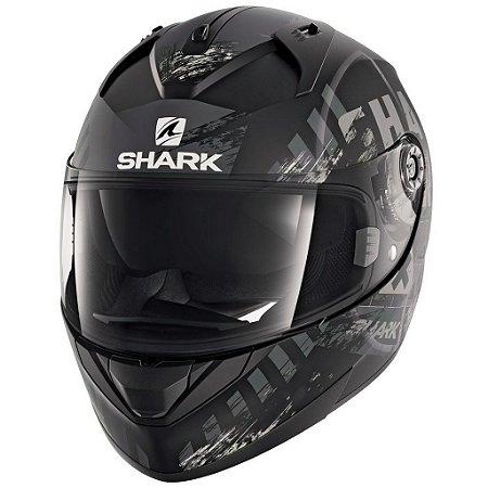 Capacete Moto Shark Ridill Skyd Matt Kas Preto