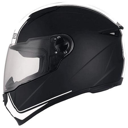 Capacete Moto Zeus 811 Matt Black EVO Touring J17 Preto e Branco