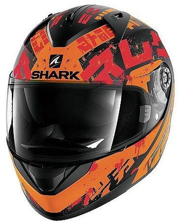 Capacete para Moto Shark Ridill Kengal Matt Kor Laranja