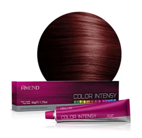 AMEND Color Intensy Coloração Permanente 5.66 Castanho Claro Vermelho Intenso