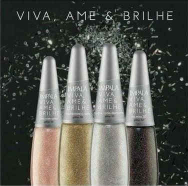 IMPALA Esmalte Viva, Ame & Brilhe Glitter 3D Coleção