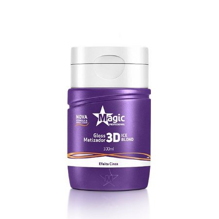 MAGIC COLOR Gloss Matizador 3D Ice Blond Efeito Cinza 100ml