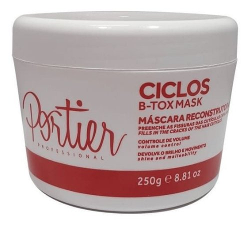 PORTIER Máscara Capilar Ciclos B-Tox Mask Reconstrutora 250g