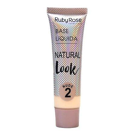 RUBY ROSE Base Líquida Natural Look HB-8051 Nude 2 29ml